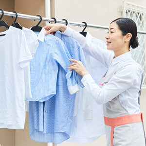 家事代行サービス 洗濯干し